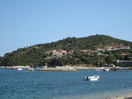 Mediterranean Sea, Sea, Water, Landscape, Boat, Nature