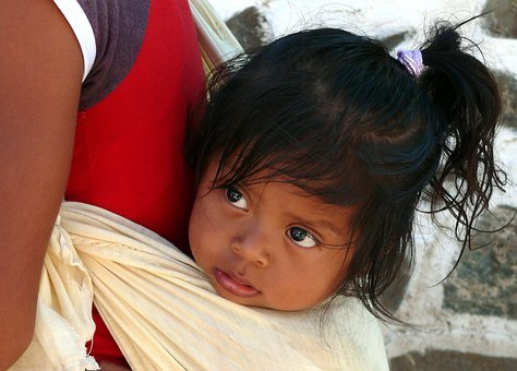 Mexico, The Little Girl, Portrait, Face, The Person