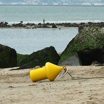 Sea, Beach, Trouville, Normandy, Sand