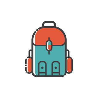 Backpack, Icon, Design, Symbol, Bag, Sign, Flat, Travel