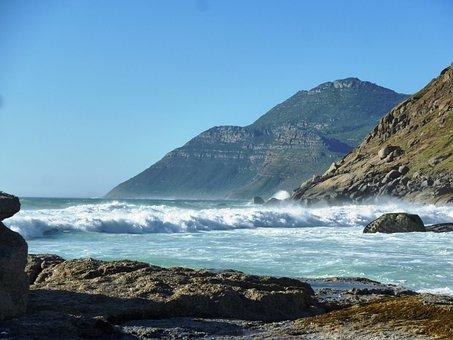 Noordhoek, South Africa, Beach, Sea, Wave