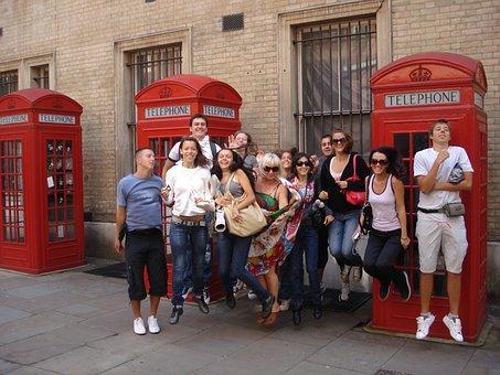 Students, London, Language, English