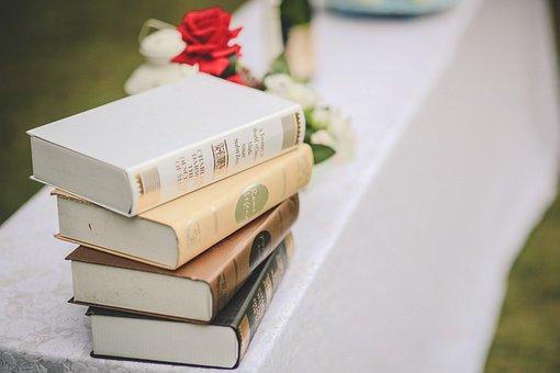 Books, Decoration, Wedding