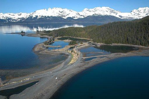 Alaska, Mountains, Sky, Clouds, Landscape, Forest