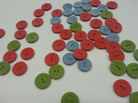 Ecological Buttons, Buttons, Recycled Buttons