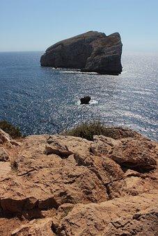 Isola Foradada, Capo Caccia, Sardinia, Sea, Landscape