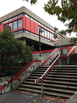 University, Cologne, Mensa, Stairs