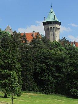 Smolenice, Castle, Slovakia, Park, Tower, Architecture