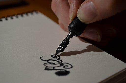Pen, Hand, Figure, Ink, Manuscript, Record