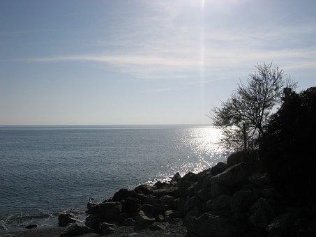 Guardia Piemontese, Calabria, Sea, Beach, Rocks, Trees