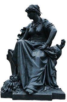 Paris, Statue, Art, Fig, Sculpture, Metal, Woman