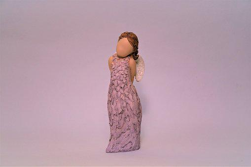 Arora, Statuette, Angel, Figurine, Without A Face