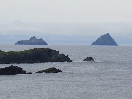 Skellig Michael, Kerry, Water, Ireland, Atlantic