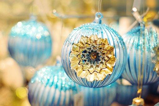 Christmas Ornaments, Ornaments, Blue, Christmas