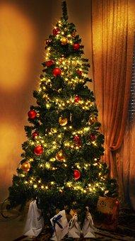 Christmas, Christmas Tree, Lights, Love, Holidays