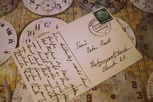 Postcard, Old, Old Fashioned, Leave, Past, Font