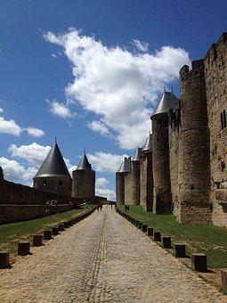 Fortress, Carcassonne, Shite, Medieval Citadel, France
