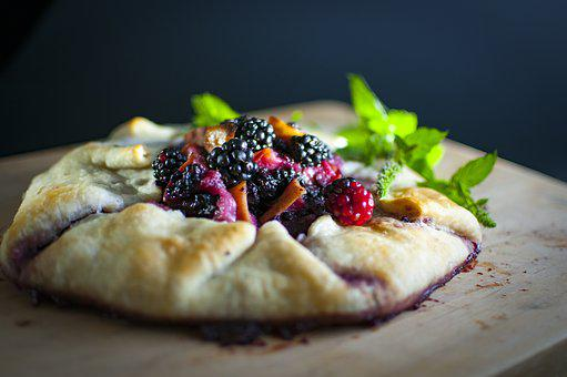Blackberry, Galette, Dessert, Pastry, Homemade