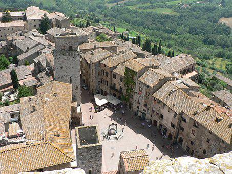 Tuscany, Tower, San Gimignano, View, Medieval, Old