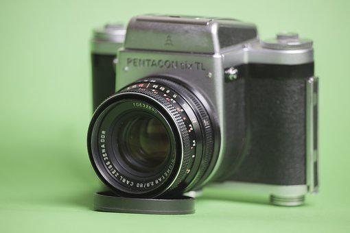 Pentacon Six, Cameras, Camera, Old, Retro
