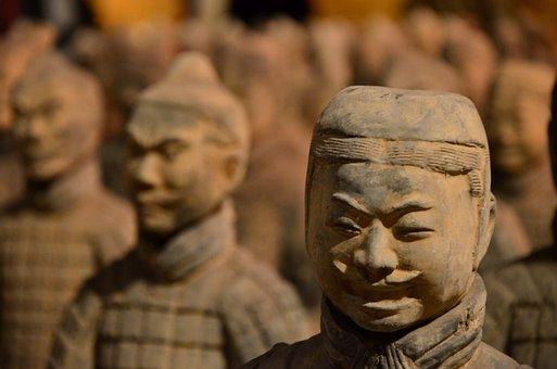 Statue, Stone, Soldier, Ancient, Culture, Temple