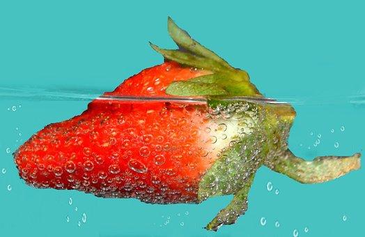 Strawberry, Red, Fruity, Sweet, Water, Swim