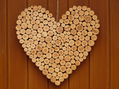 Heart, Love, Wooden Heart, Symbol, Romance