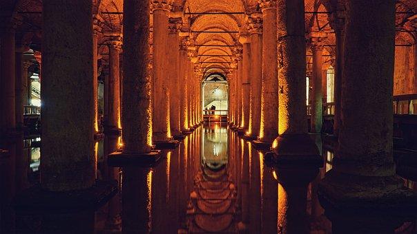 Istanbul, Yerebatan, Cistern, Turkey, Underground