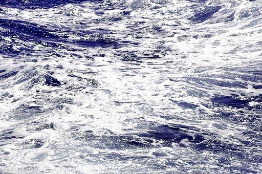 Sea, Water, Ocean, Blue, Surf, Wave, Coast, Spray