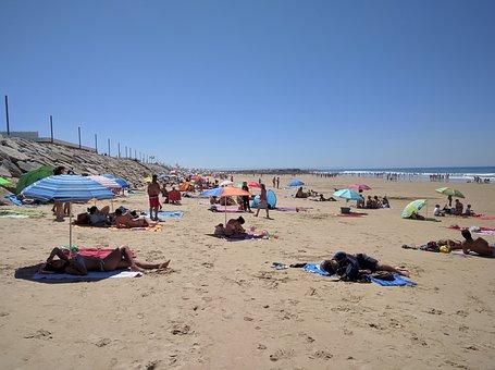 Beach, Caparica Coast, Sea