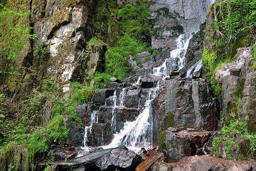 France, Landscape, Water, Stream, Cascade, Cascading