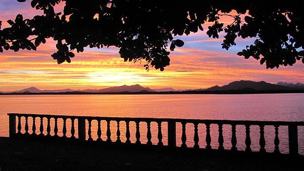 Sunset, Guaraqueçaba, Mar, Beach