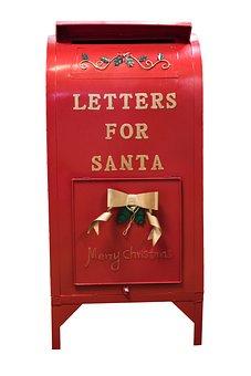 Christmas, Santa Mailbox, Mailbox, Holiday, Red, Mail
