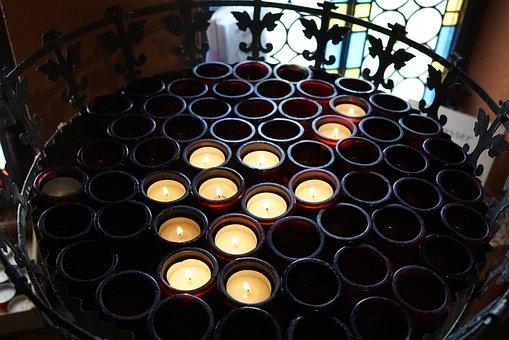 Candles, Church, Light