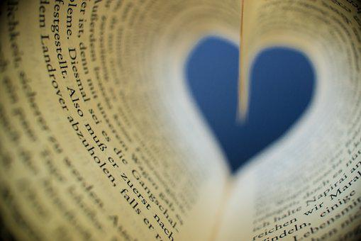 Book, Heart, Read, Love, Pages, Paper, Education