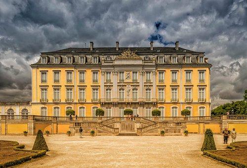 Castle, Brühl, Augustusburg, Feudal, Baroque, Splendor