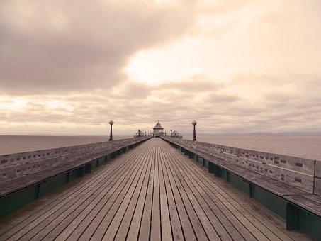 Pier, Seaside, Beach, Ocean, Sea, Coast, Water, Shore