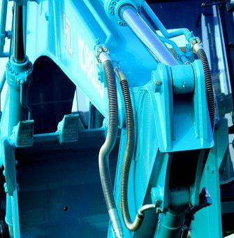 Machine, Blue, Heavy Machine, Industry, Construction