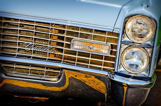 Headlights, Grill, Hot Rod, Muscle Car, Baby Blue, Blue