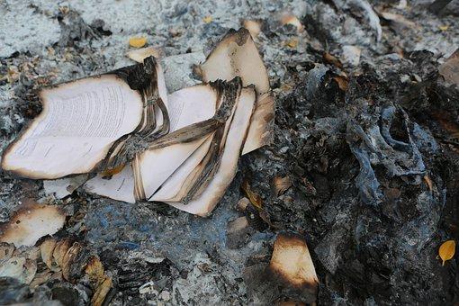 Book, Pages, Burnt, Burning, Old, Damaged, Grunge