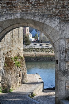Rampart, Door, Wharf, Finistère, Brittany, France