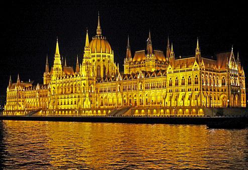 Budapest At Night, Parliament At Night, Ship Passage