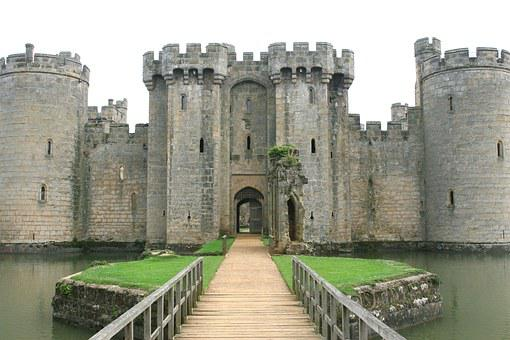 Battlements, Blue, Bodiam, British, Bulwark, Castle