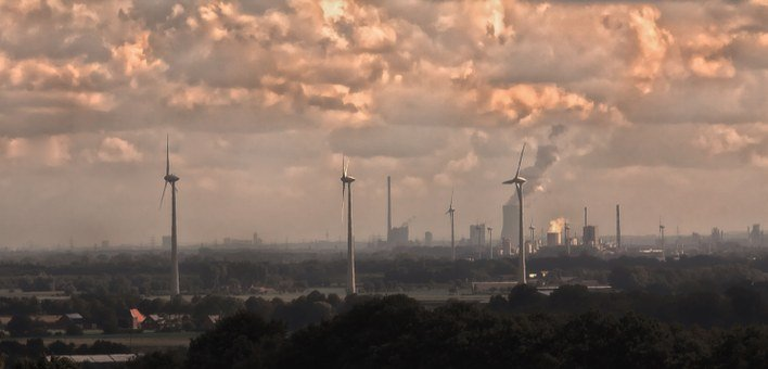 Ruhr Area, Air Pollution, Chimney, Industry, Work