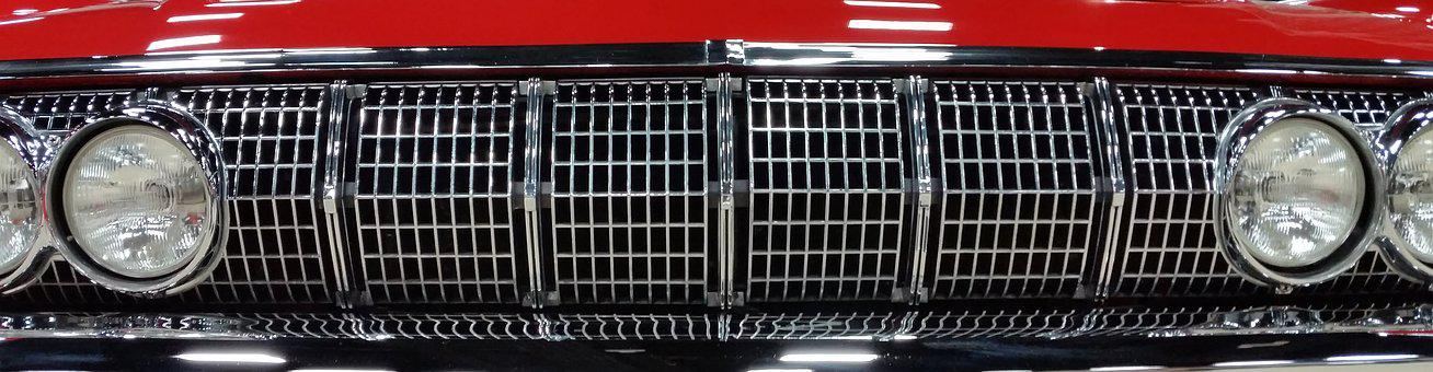 Car, Grill, Vintage, Vehicle, Automobile, Chrome