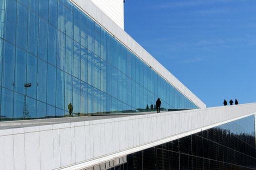 Oslo, Norway, City, Opera, Opera House, Modern