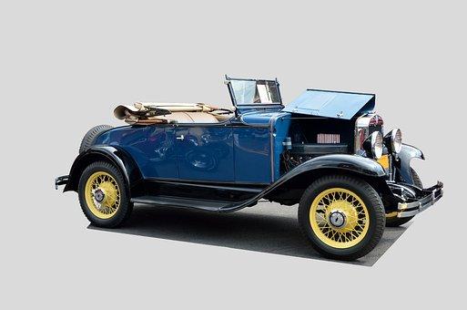 Vintage Car, Classic, Convertible, Antique, Restored
