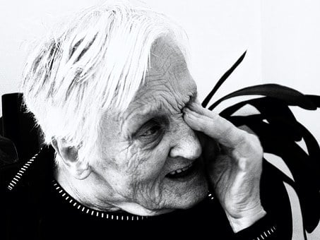 Woman, Old, Sad, Confused, Dependent, Dementia, Age