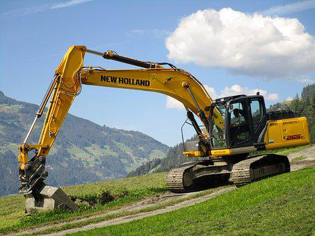 Excavators, Construction Work, Site, Vehicle