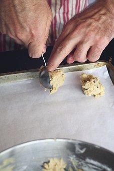 Cookie Dough, Raw, Cookie, Dough, Baking, Kitchen